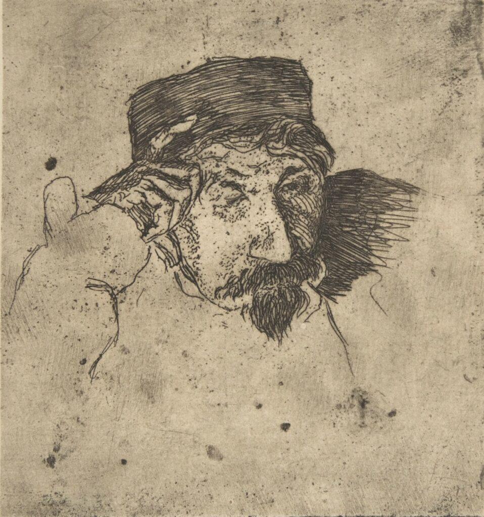 Félix Bracquemond, 1853, Sketch of Joseph Guichard (1806-80), dr, 9x9, Metropolitan (iR10;Mx;iR6;iR61;R52,p26)