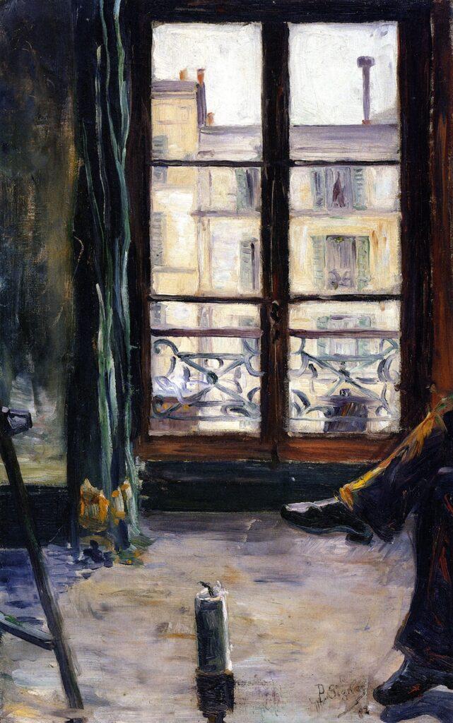 Signac, 1883, CR23, opus 26, Montmartre study, studio (Rue de Berthe), 60x38, private (iR2;R39,p88)