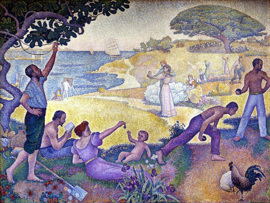 Signac, 1893-95, CR253, in the time of Harmony (The Golden Age is not in the past, it Is still to come), 300x400, Marie de Montreuil (iRx;R39,p197;R106) SdI-1895-1401 + LE-1896-389