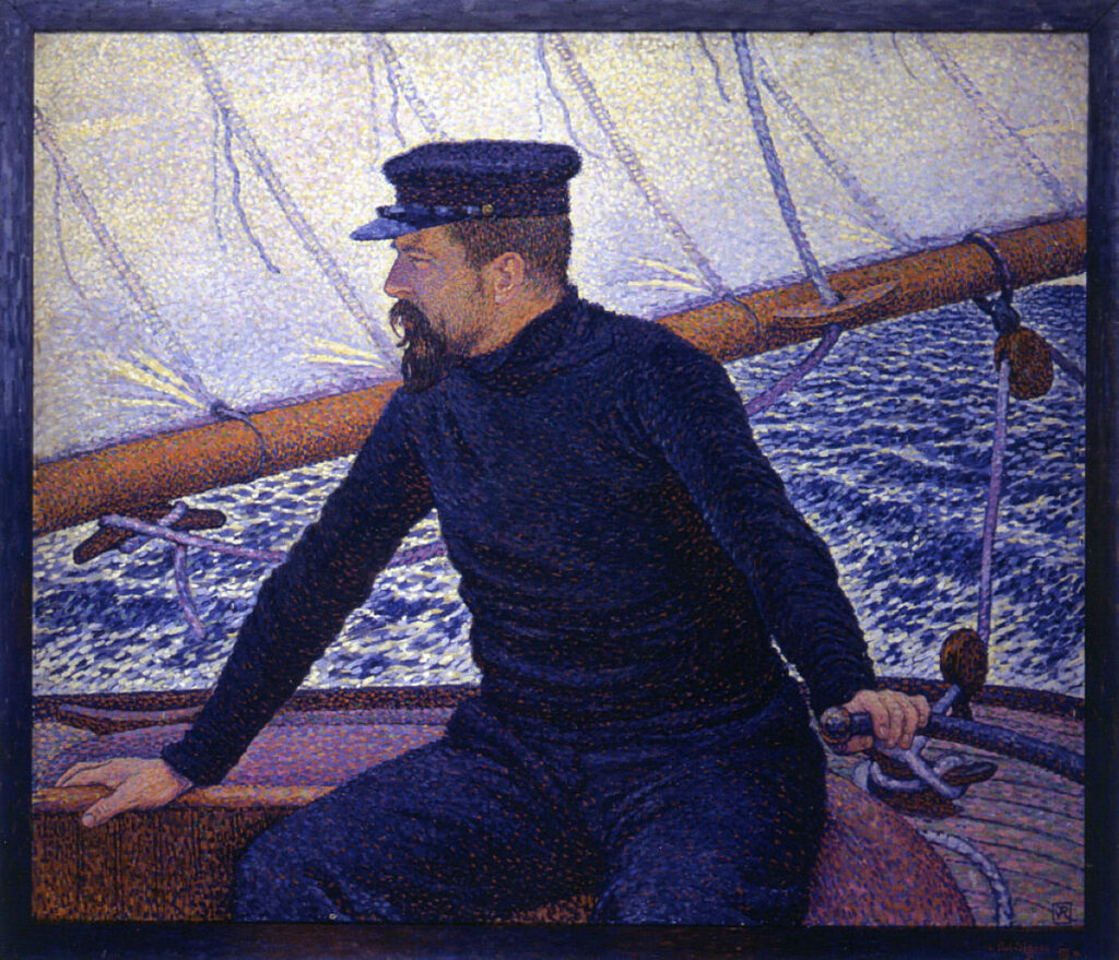 Théo van Rysselberghe, 1896, Paul Signac at the helm of the Olympia, 92x114, private (iRx;R68,p137;R39,p39;R106,p44)