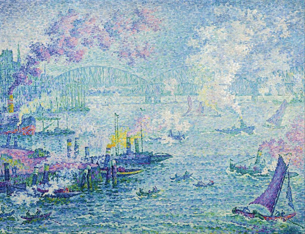 Signac, 1907, CR448, Rotterdam (the harbour), 87x114, MBvB Rotterdam (iR6;iR8;R39,p70;R106) SdI-1907-4538