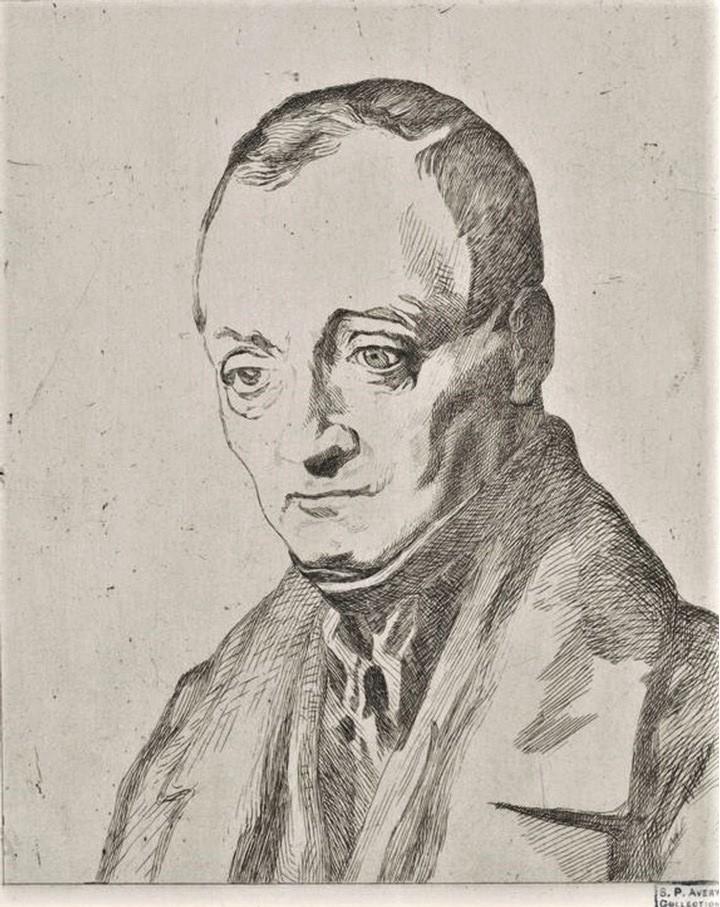 Félix Bracquemond, 1IE-1874-24-5, Portrait de M Aug Comte. Option 2: 1855, B23, portrait d'Auguste Comte, etch, 16x13, BNF Paris (iR61;R52,p156;R85,no23)
