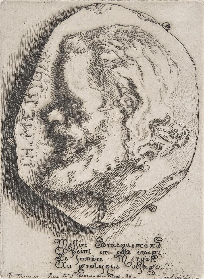 Félix Bracquemond, 1IE-1874-24-8, portrait de M Meryon. Option 2: 1854, B78, Portrait of Charles Meryon, etch, xx Metropolitan (iR6;R52,px;R85,no78)