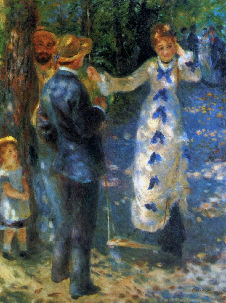 Renoir, 3IE-1877-185 La Balançoire (app. à M. C...) =1876, CR202, The swing, 92x73, Orsay (iR52;R90II,p100;R8,p320;R32,p37;R30,no242;R31,no39)