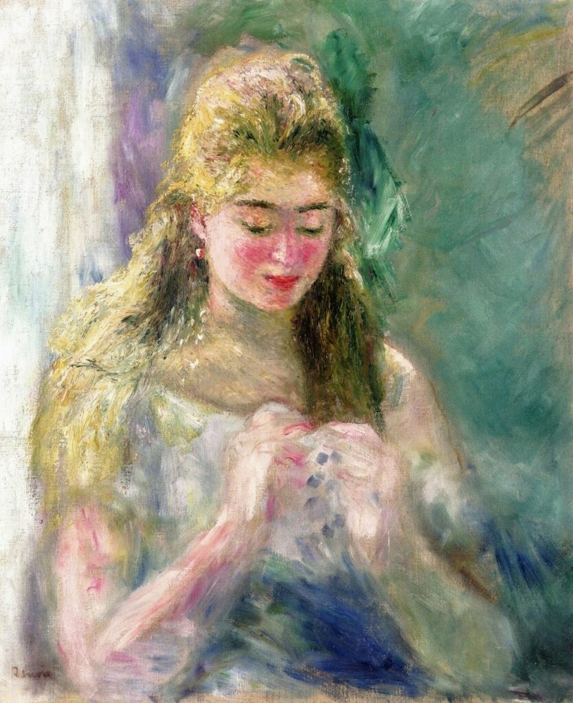 Renoir, 3IE-1877-193, Jeune fille. Maybe??: 1875ca, The Sewer, 65x54, A2010/11/02 (iRx;iR11;R30,no195)