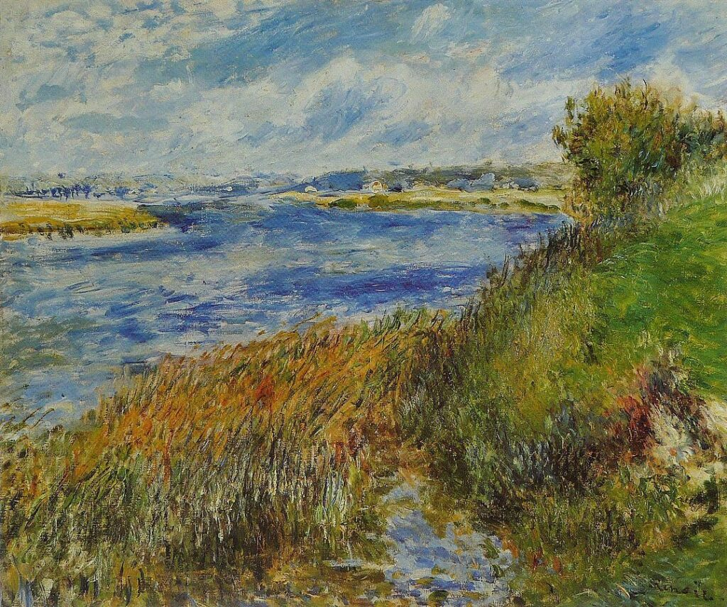 Renoir, 3IE-1877-195, La Seine à Champrosay =1876, The Banks of the Seine at Champrosay, 55x66, Orsay (iR6;R30,no256;R90II,p101;R31,p207)