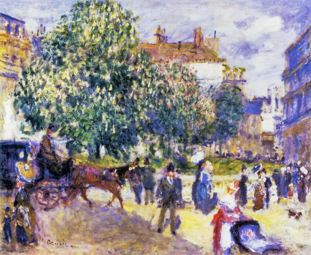 Renoir, 3IE-1877-196, La place Saint-George. Maybe?: 1875ca, Place de la Trinite, Paris, 50x61, private (iRx;R30,no196)
