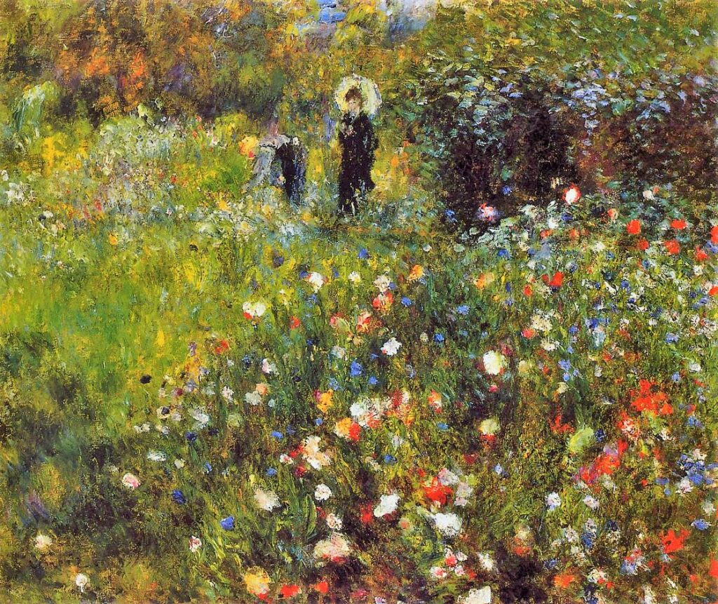 Renoir, 3IE-1877-199, Jardin. Maybe??: 1875, Woman with a Parasol in a Garden, 54x65, MNTB Madrid (iR2;Mx;R30,no199)
