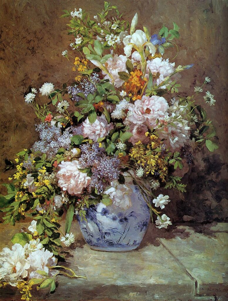 Renoir, 3IE-1877-201, bouquet de fleurs de champs. Maybe???: 1866, Spring Bouquet, 104x80, HAM Cambridge (iRx;R30,no12)