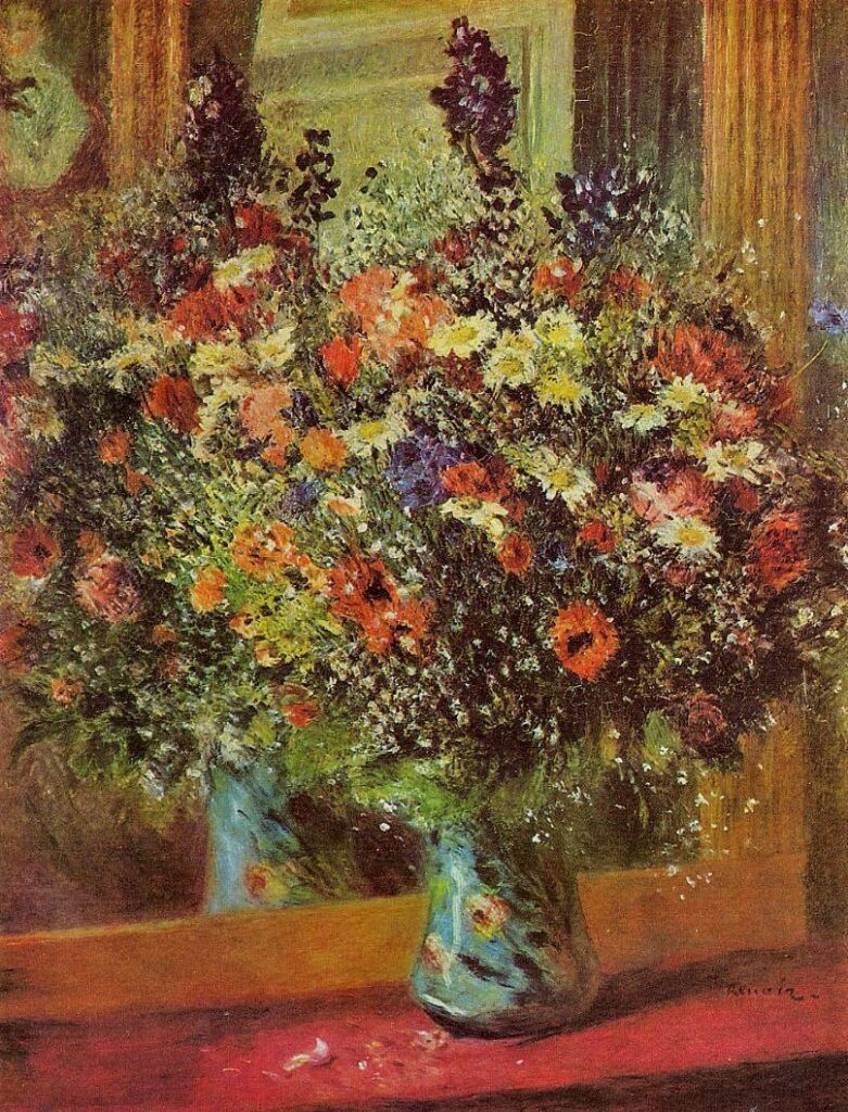 Renoir, 3IE-1877-201, bouquet de fleurs de champs. Maybe???: 1876ca, Bouquet in front of a Mirror, 93x72, private (iRx;R30,no267)