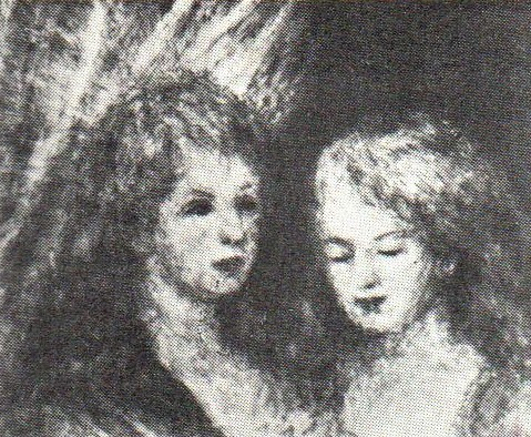 Renoir, 3IE-1877-203, deux têtes. Maybe??: 1877ca, two young maiden heads, 47x54, Marlborough London (R30,p103=no272)