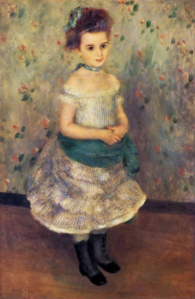 Renoir, 3IE-1877-205 Portrait d'enfant. Maybe??: 1876, CR179, Jeanne Durand-Ruel, 112x75, Barnes Merion (iRx;R30,no229;R174,p49)