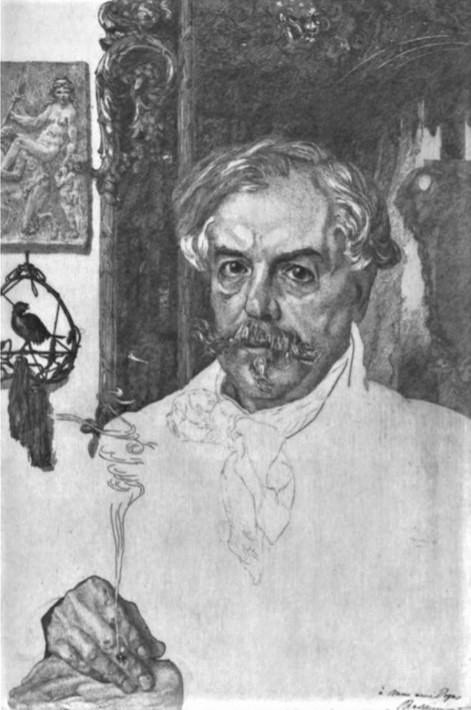 Félix Bracquemond, 5IE-1880-4, Portrait de M. Ed. de Goncourt. Compare:1882, B54-1, Edmond de Goncourt, etch 1st, Cleveland MA (R84,p237;R85,no54;R90II,p159)