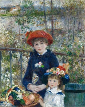 Renoir, 7IE-1882-138, Deux soeurs =1881, CR378, Sur la terrasse (Two Sisters), 101x81, AI Chicago (iR59;iR2;R90II,p229)