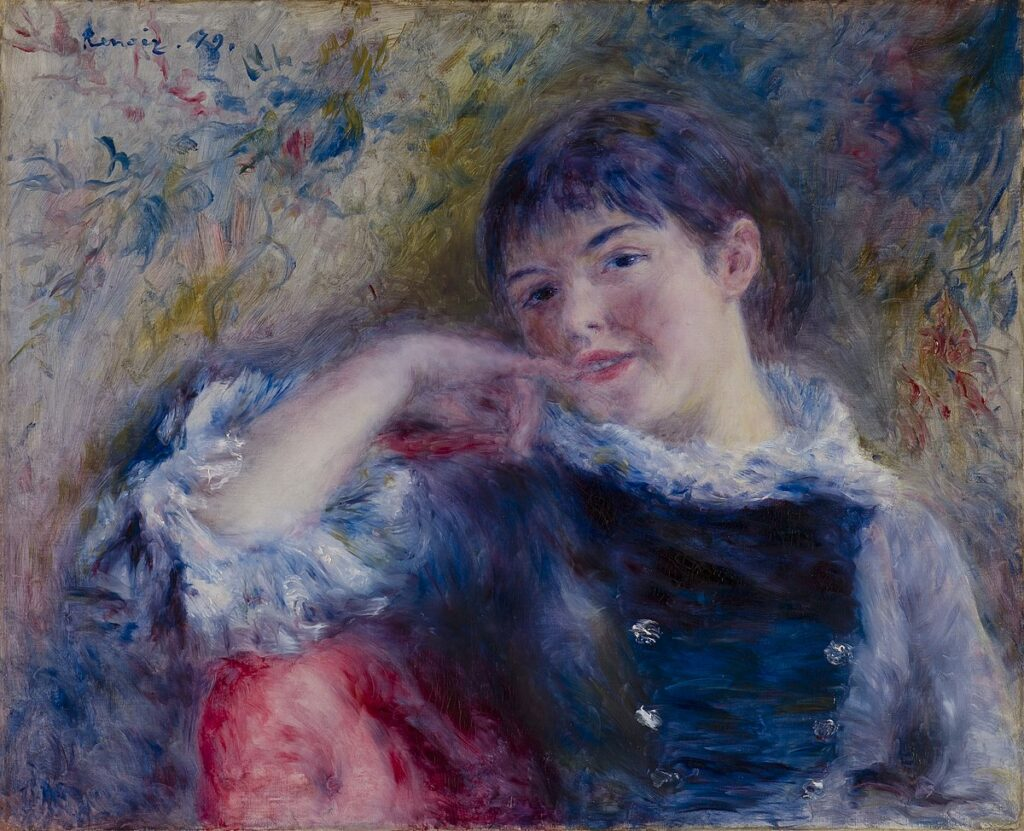 Renoir, 7IE-1882-141, Rêverie. Maybe??: 1879, The Dreamer, 51x62, CAM St. Louis (iR10;iR6;Mx;R30,no372)