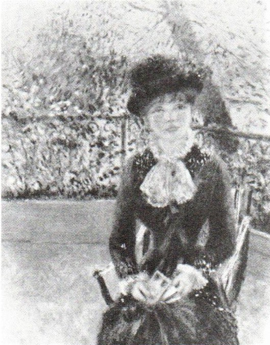 Renoir, 7IE-1882-141, Rêverie. Maybe: 1880ca, CR356, Young woman sitting, 62x50, private (R90II,p229;R30,no435)