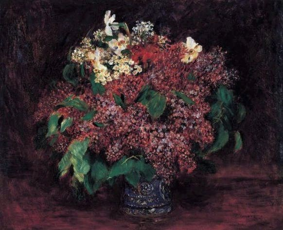 Renoir, 7IE-1882-145, Lilas. Maybe??: 1875-80, bouquet of lilacs, 54x65, NSM Pasadena (iR22)
