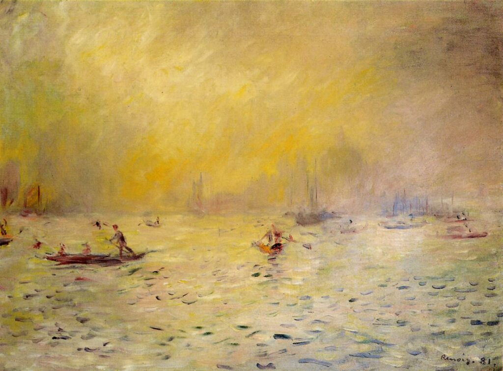 Renoir, 7IE-1882-147, Vue de Venise Maybe??: 1881, View of Venice, Fog, 45x60, Kreeger coll. Washington (iRx;R2,p415;R90II,p211)