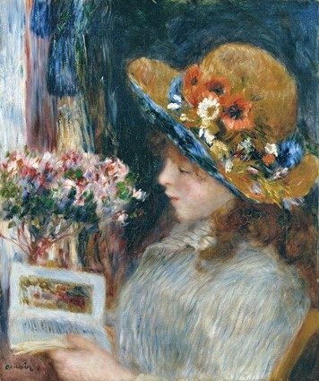 Renoir, 7IE-1882-149, La lecture =1875-86ca, CR333, Young Girl Reading, 57x48, Städel Frankfurt (iR59;iR2;R90II,p231)