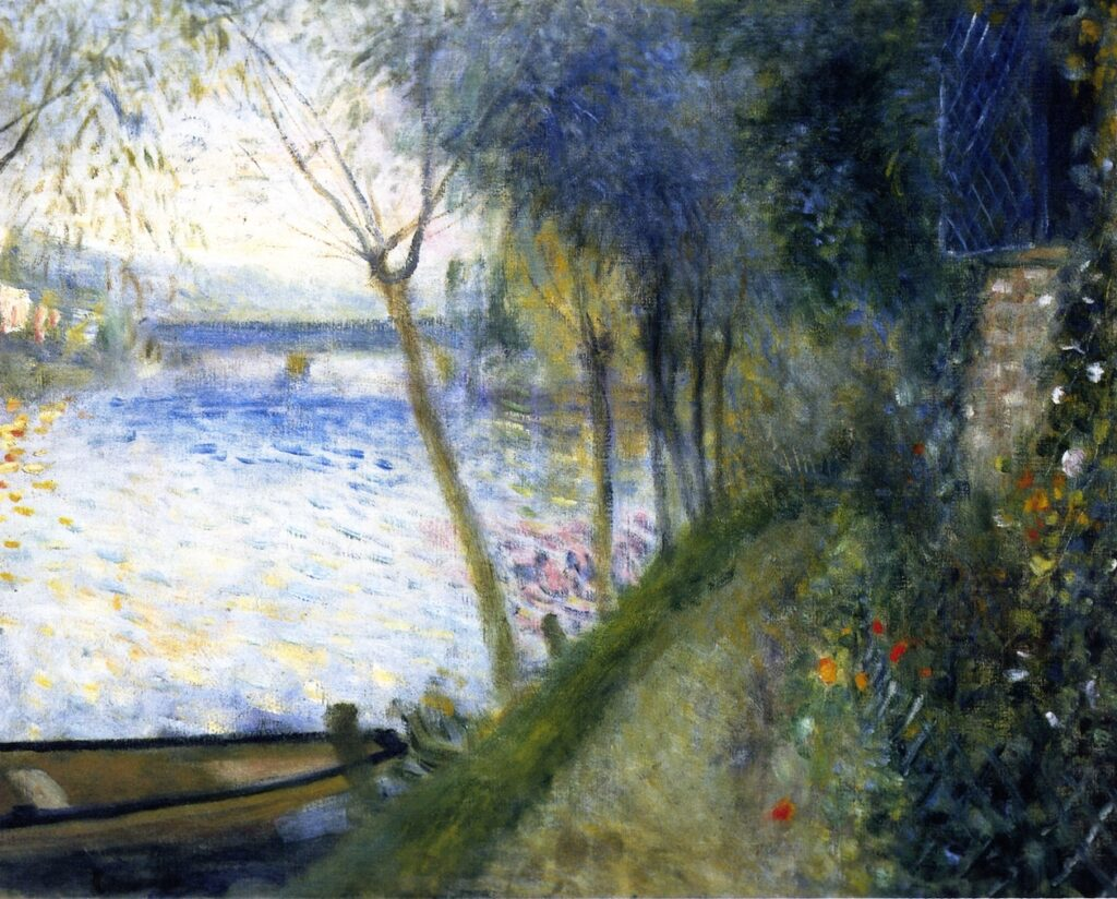 Renoir, 7IE-1882-150, Au bord de la Seine. Maybe??: 1878ca, Landscape by the Seine, the Argenteuil Bridge (The River), 47x51, private (iRx)