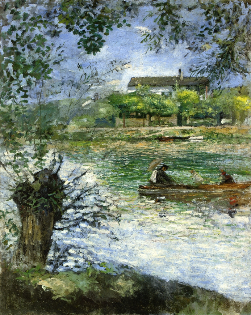 Renoir, 7IE-1882-150, Au bord de la Seine. Maybe??: 1880-84, Willows and figures in a boat , 92x74, private (iR52;R30,no603)