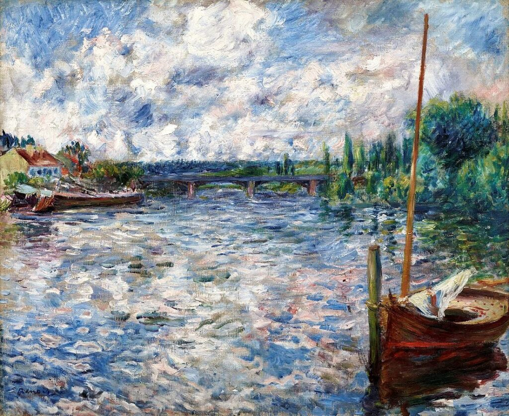 Renoir, 7IE-1882-154, la Seine à Chatou. Maybe?: 1874ca, La Seine à Chatou, 54x65, Dallas MA (iR6;iR22;R30,no118) Durand-Ruel collection