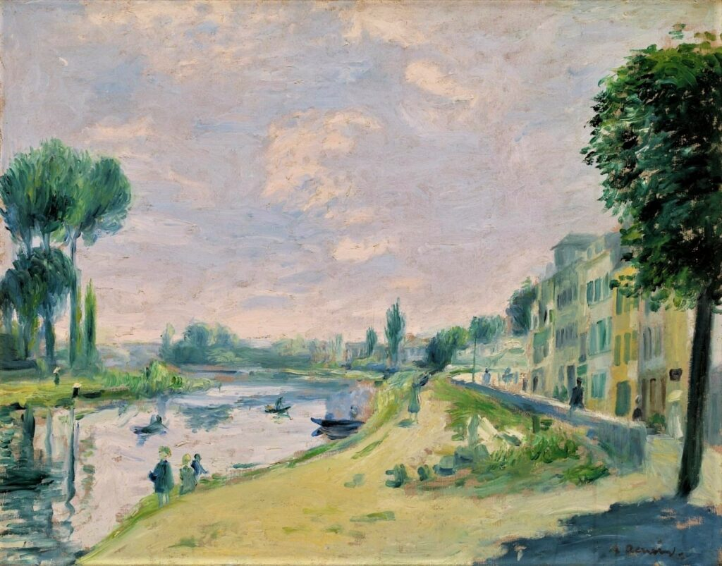 Renoir, 7IE-1882-161, Près de Bougival. Maybe??: 1871, Bords de la Seine à Bougival, 43x55, AM Denver (iR94;iR10;iR94;R30,no678)