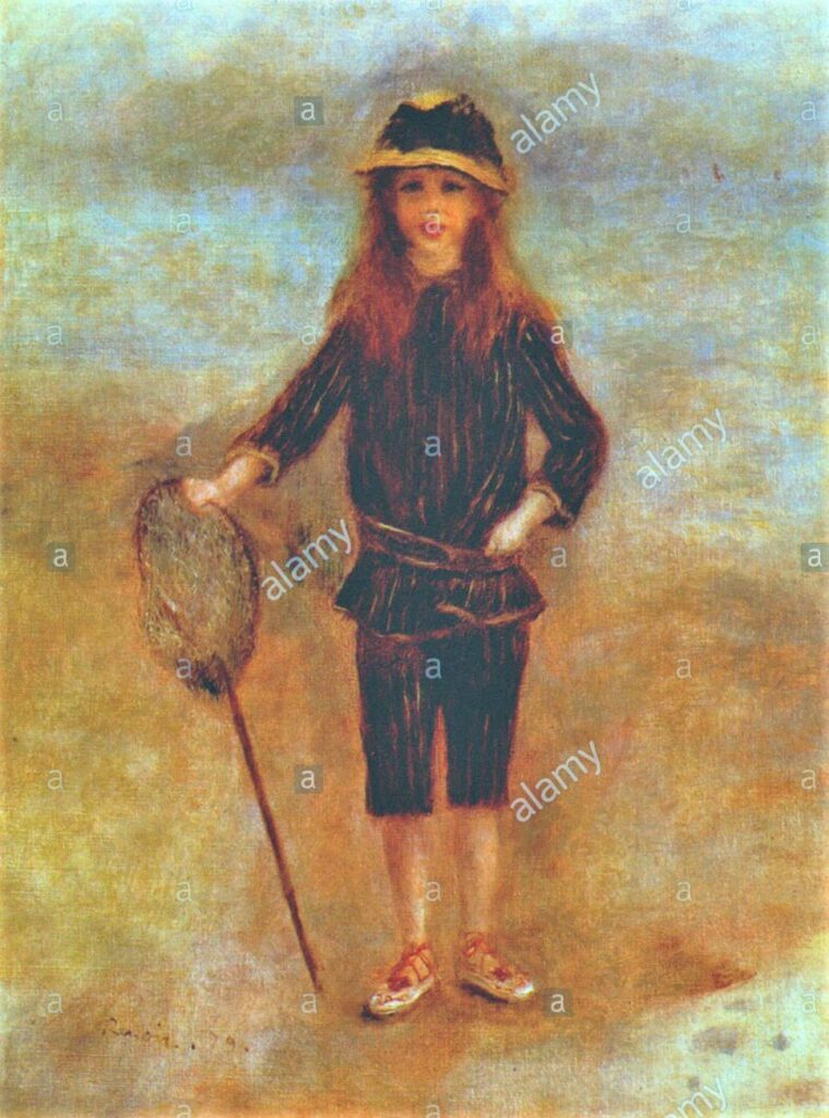 Renoir, 7IE-1882-161+hc2, Jeune fille pêcheuse de Crevettes. Probably: 1879, CR281, The Little Fishergirl, 61x46, private (iR10;iR48;R30,no347;R90II,p233)