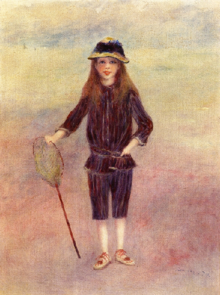 Renoir, 7IE-1882-161+hc2, Jeune fille pêcheuse de Crevettes. Maybe?: 1879, CR282, The Little Fishergirl (Marthe Bérard), 61x46, private (iRx;R30,no347)