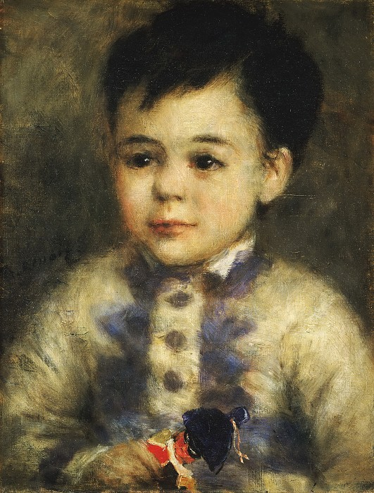 Renoir, 7IE-1882-161+hc4, Tête de petit garçon. Maybe??: 1875ca, Boy with a Toy Soldier (Portrait of Jean de La Pommeraye), 35x27, private (iR10;iR6;R30,no156)