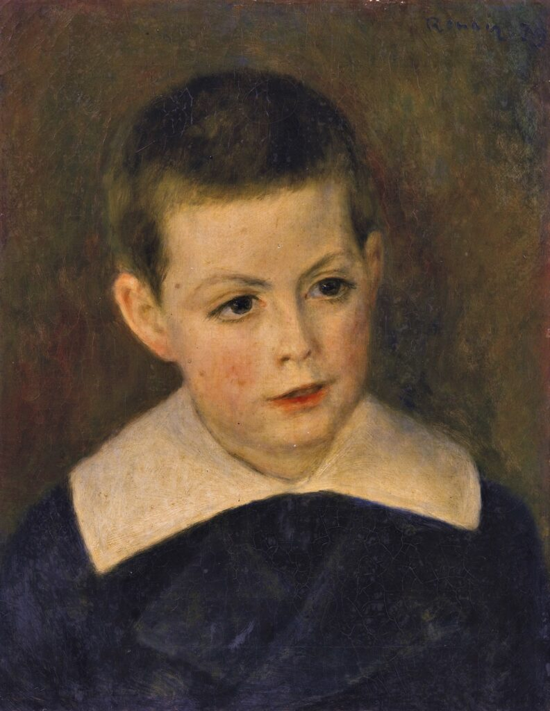 Renoir, 7IE-1882-161+hc4, Tête de petit garçon. Maybe??: 1879, Portrait of André Bérard as a child, 41x32, A2016/02/04 (iR11;R30,no342)