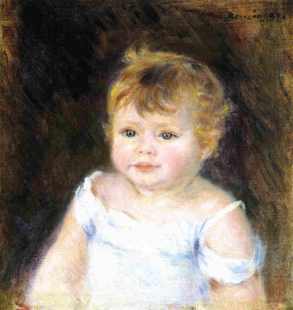 Renoir, 7IE-1882-161+hc4, Tête de petit garçon. Maybe??: 1881, (Head) Portrait of a child, 37x32, private (iRx;R30,no459)