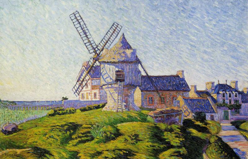 Paul Signac, 8IE-1886-186, Le moulin de Pierre Hâlé, Saint-Briac =1885, CR92, opus 100, Saint-Briac, Pierre Hâle's windmill, 60x92, private (iR10;iR135;R2,p446+470;R106,no92;R90II,p253+277). Also SdI-1886-372.