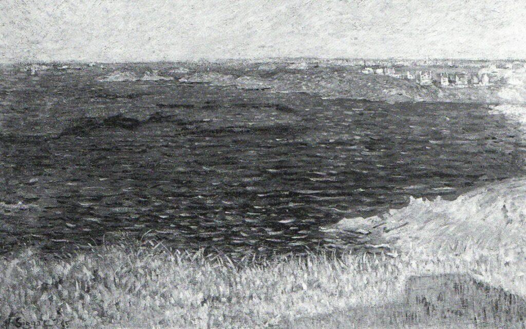 Paul Signac, 8IE-1886-189, Du haut de la Garde Guérin, Saint-Briac. Compare: 1885, CR100, opus 111, Saint-Briac, La Pomelière, 50x80, private (R106,no100+93;R2,p446)