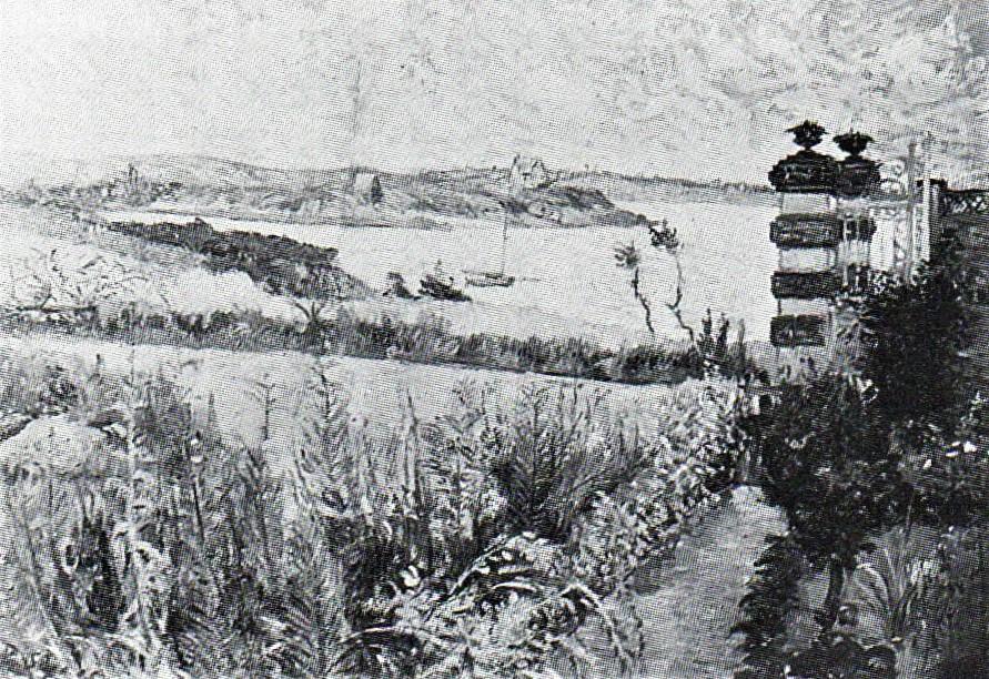 Signac, 8IE-1886-194, Le jardin du père Lefeuvre, Saint-Briac =1885, CR97, opus 105, Saint-Briac, La Chapelle, 46x65, xx (R106,p167)