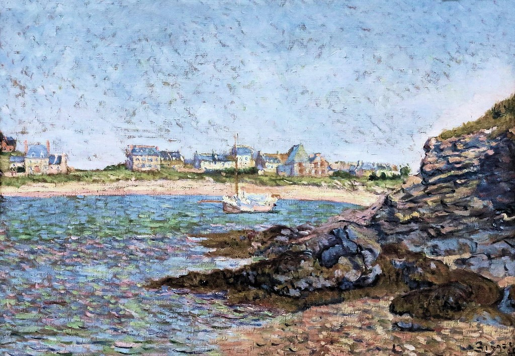 Paul Signac, 8IE-1886-197, Le port Hue, Saint-Briac =1885, CR98, opus 106, Le port de Saint-Briac, 45x65, MBB Rotterdam (iR10;iR94;iR6;R90II,p278;R106)