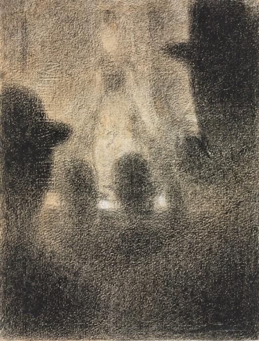 Paul Signac, 8IE-1886-199, Au Café-concert, dessin. Compare: Seurat, 1887-88, Café-concert, dr, 31x24, Cleveland MA (iR10;M27;R2,p446;R90II,p253)