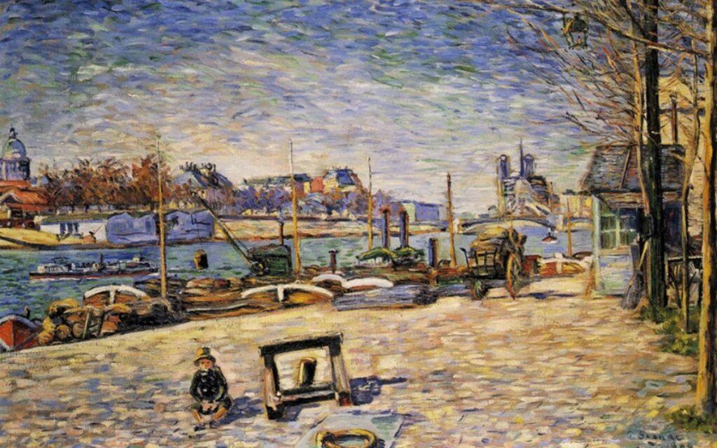 Signac, GdAI-1884/05-71 =1884, CR61, opus 66, La Seine, Quai d'Austerlitz (soleil), 60x91, private Tokyo (iR135;iR10;R39,p74)
