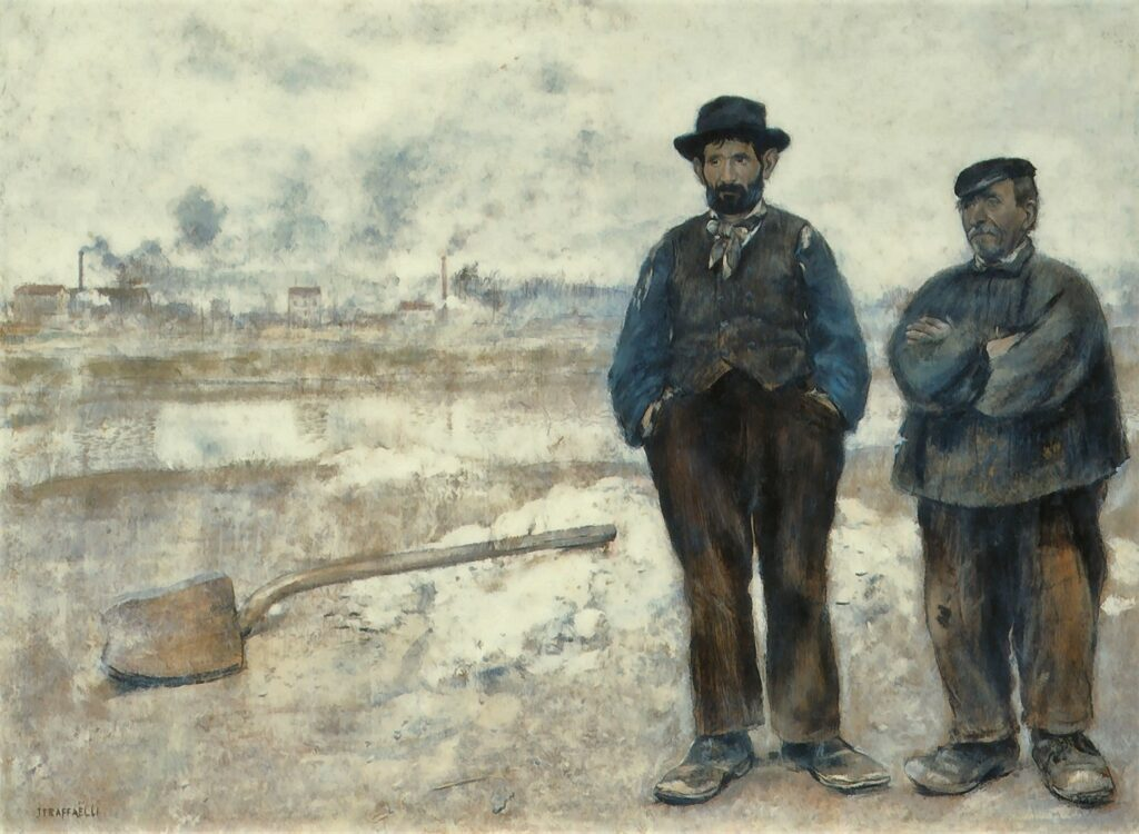 Jean-François Raffaëlli, 18xx, the two workmen, 50x68, A2004/04/23 (iR204;iR11;iR2)