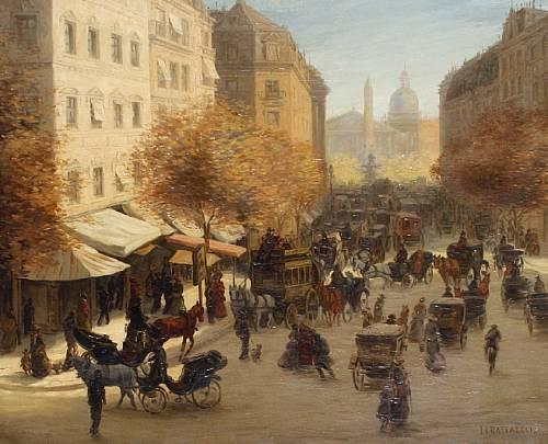 Jean-François Raffaëlli, 6IE-1881-106, Vue sur la cour d'un charron, aquarelle. Compare: 1xxx, Parisian street scene, 43x52, A2010/10/26 (iR11;R2,p355). Compare: se1884-146 (aR14,p17).