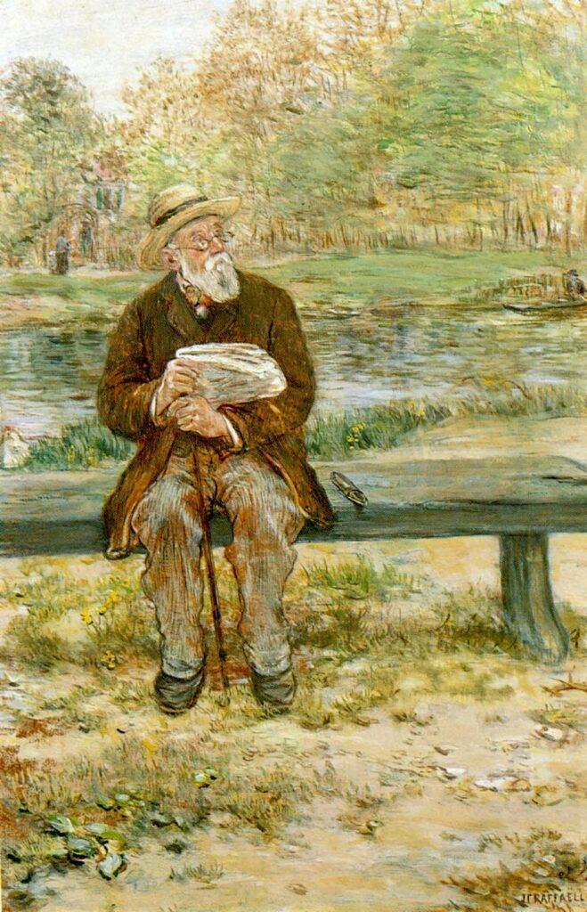 Jean-François Raffaëlli, 6IE-1881-113, Bourgeois lisant «les faits divers». Maybe?: 18xx, le petit rentier Français, xx, xx (iR204;R2,p355;R90II,p186) Compare: se1884-57.