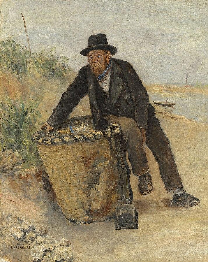 Jean-François Raffaëlli, 6IE-1881-123, Chiffonnier tenant un panier. Maybe?: 18xx, Le chiffonnier (the ragpicker), 42x34, A2020/06/23 (iR6;iR15;iR14;iR11;iR2;R2,p355;R90II,p186)