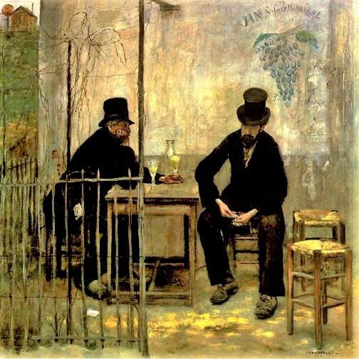 Jean-François Raffaëlli, 6IE-1881-91, Les déclassés =1881, absinthe drinkers, 110x110, A2010/05/04 (iR2;iR11;iR59;R2,p368;R90II,p195;R3,p211) =se1884-81 (aR14,p13)