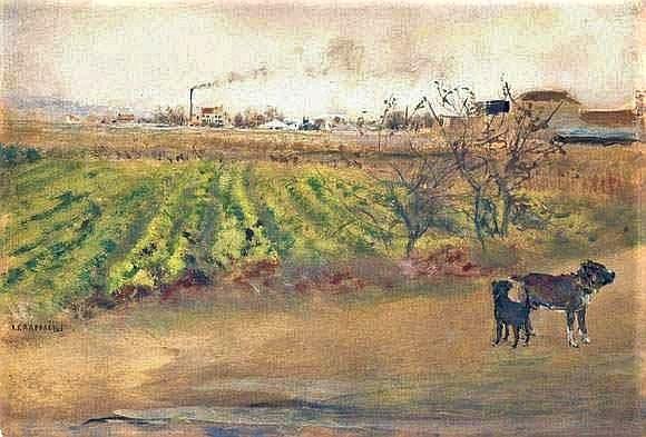 Jean-François Raffaëlli, 6IE-1881-94, Deux chiens se rencontrant sur la route. Maybe?: 18xx, Les Chiens, xx, A2008/06/20 (iR17;R2,p355;R90II,p185)