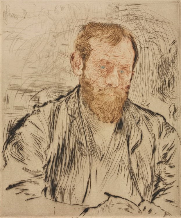 Jean-François Raffaëlli, 1893, D7, Self-Portrait, colour etch ps, 19x16, Cleveland MA (iR6;iR40;iR10;iR11;R138XVI,no7)