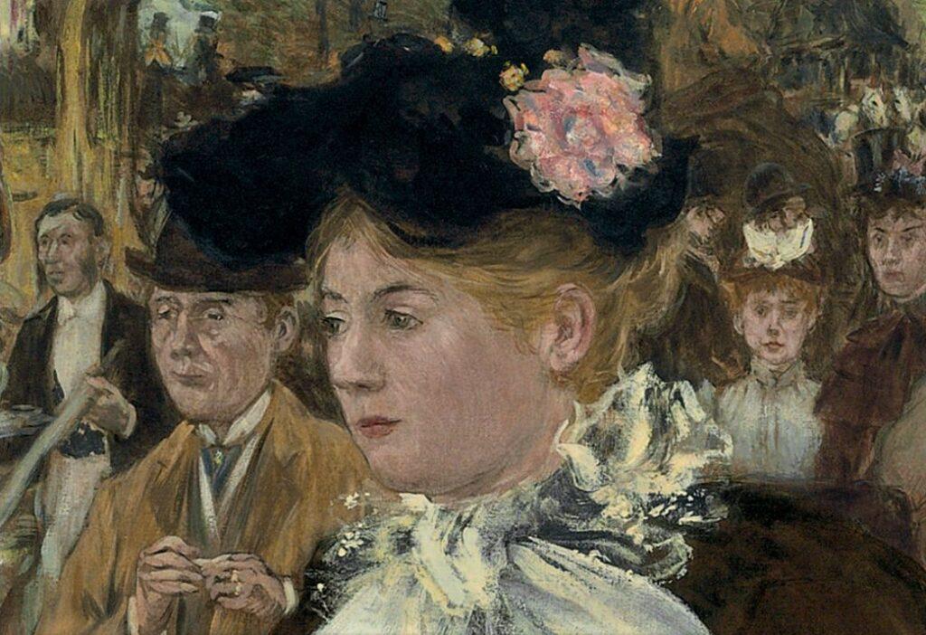 Jean-François Raffaëlli, 1899ca, (Élegante sur) le Boulevard des Italiens (detail), 135x120, A2010/01/27 (iR204;iR15;R16,p275) Carnegie 1899-186