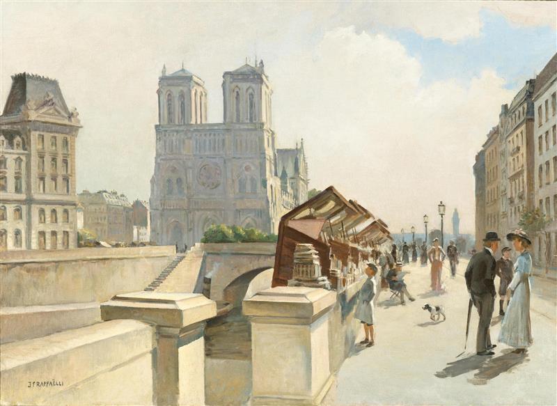Jean-François Raffaëlli, 19xx, Nôtre Dame de Paris, vue du quai Saint-Michel, 65x92, A2015/06/26 (iR11)