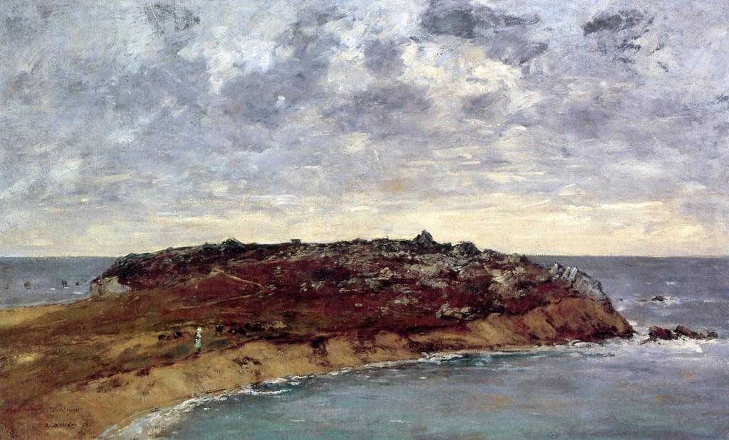 Eugène Boudin, 1IE-1874-17, Le Toulinguet, côtes de Camaret (Finistère). Probably: 1872, Camaret, le Toulinguet, 54x90, private (iR2;R87,p230;R2,p119;R90II,p3)