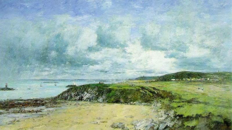 Eugène Boudin, 1IE-1874-18, Rivage de Portrieux (Côtes-du-Nord) Maybe: 1874, CR964, The Coast of Portrieux, 85x118, private (iR2;R2,p125;R90II,p3;R122,no964). Compare: S1874-230, Rivage du Portrieux.