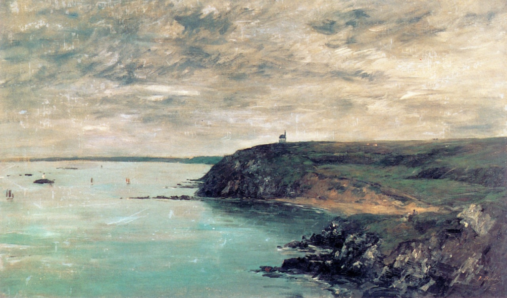 Eugène Boudin, 1IE-1874-19, Rivage de Portrieux (Côtes-du-Nord). Compare: 1875, The Shore and the Sea at Portrieux, 54x90, private (iR2;R2,p119;R90II,p3)